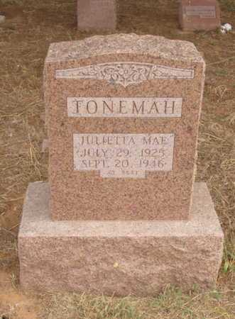 TONEMA, JULIETTA MAE - Caddo County, Oklahoma | JULIETTA MAE TONEMA - Oklahoma Gravestone Photos