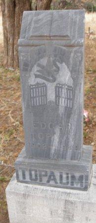 TOPAUM, EDGAR - Caddo County, Oklahoma   EDGAR TOPAUM - Oklahoma Gravestone Photos