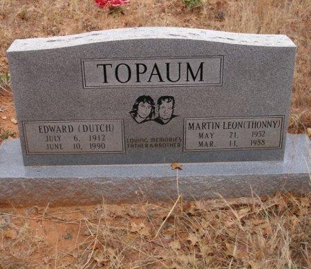 TOPAUM, EDWARD - Caddo County, Oklahoma | EDWARD TOPAUM - Oklahoma Gravestone Photos