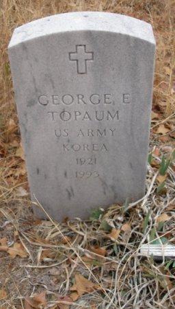 TOPAUM (KOREAN VET), GEORGE E - Caddo County, Oklahoma | GEORGE E TOPAUM (KOREAN VET) - Oklahoma Gravestone Photos