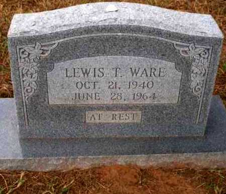 WARE, LEWIS T - Caddo County, Oklahoma | LEWIS T WARE - Oklahoma Gravestone Photos