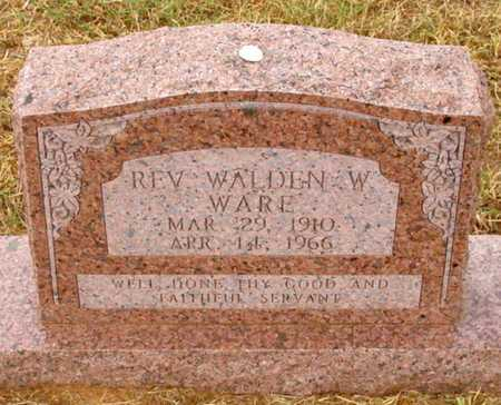 WARE, REV WALDEN W - Caddo County, Oklahoma | REV WALDEN W WARE - Oklahoma Gravestone Photos