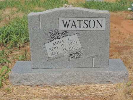 WATSON, ANNA L - Caddo County, Oklahoma   ANNA L WATSON - Oklahoma Gravestone Photos