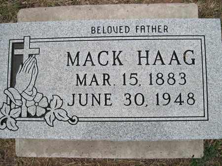 HAAG, SR., MACK - Canadian County, Oklahoma   MACK HAAG, SR. - Oklahoma Gravestone Photos
