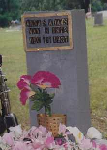 ADAMS, ANNA SAMANTHA - Cherokee County, Oklahoma | ANNA SAMANTHA ADAMS - Oklahoma Gravestone Photos