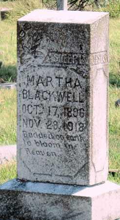 BLACKWELL, MARTHA - Cherokee County, Oklahoma | MARTHA BLACKWELL - Oklahoma Gravestone Photos