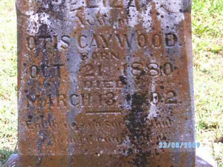 CAYWOOD, ELIZA - Cherokee County, Oklahoma | ELIZA CAYWOOD - Oklahoma Gravestone Photos