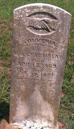 CHARBONEAU, LOUVENIA - Cherokee County, Oklahoma | LOUVENIA CHARBONEAU - Oklahoma Gravestone Photos