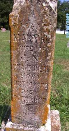 CHARBONEAU, MARY J - Cherokee County, Oklahoma | MARY J CHARBONEAU - Oklahoma Gravestone Photos