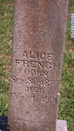 FRENCH, ALICE - Cherokee County, Oklahoma   ALICE FRENCH - Oklahoma Gravestone Photos