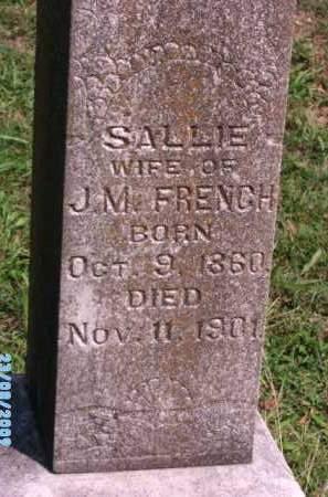 FRENCH, SALLIE - Cherokee County, Oklahoma | SALLIE FRENCH - Oklahoma Gravestone Photos
