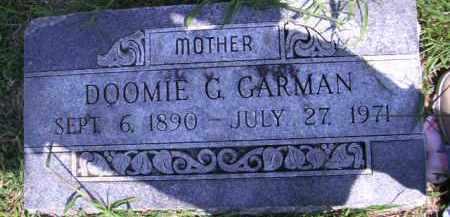 GARMAN, DOOMIE G - Cherokee County, Oklahoma   DOOMIE G GARMAN - Oklahoma Gravestone Photos