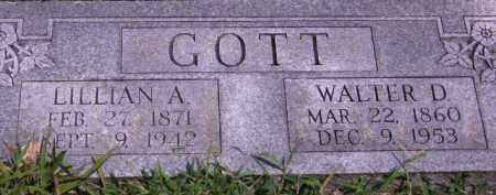 GOTT, WALTER D - Cherokee County, Oklahoma   WALTER D GOTT - Oklahoma Gravestone Photos