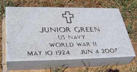 GREEN (VETERAN WWII), JUNIOR - Cherokee County, Oklahoma | JUNIOR GREEN (VETERAN WWII) - Oklahoma Gravestone Photos