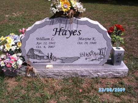 HAYES, WILLIAM L - Cherokee County, Oklahoma | WILLIAM L HAYES - Oklahoma Gravestone Photos