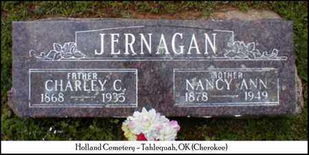 CONLEY JERNAGAN, NANCY ANN - Cherokee County, Oklahoma | NANCY ANN CONLEY JERNAGAN - Oklahoma Gravestone Photos