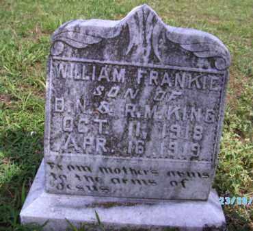 KING, WILLIAM FRANKIE - Cherokee County, Oklahoma | WILLIAM FRANKIE KING - Oklahoma Gravestone Photos