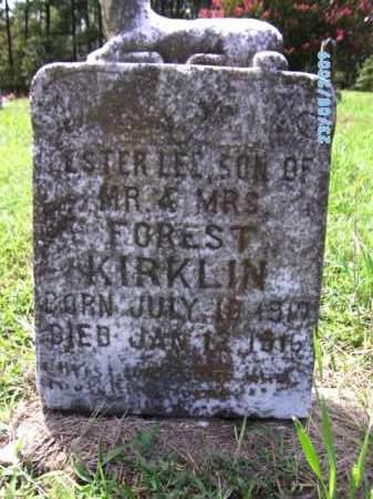 KIRKLIN, ESTER LEE - Cherokee County, Oklahoma | ESTER LEE KIRKLIN - Oklahoma Gravestone Photos