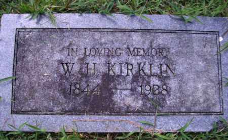KIRKLIN, W H - Cherokee County, Oklahoma   W H KIRKLIN - Oklahoma Gravestone Photos
