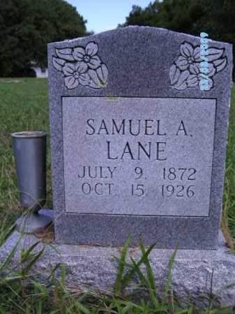 LANE, SAMUEL A - Cherokee County, Oklahoma   SAMUEL A LANE - Oklahoma Gravestone Photos