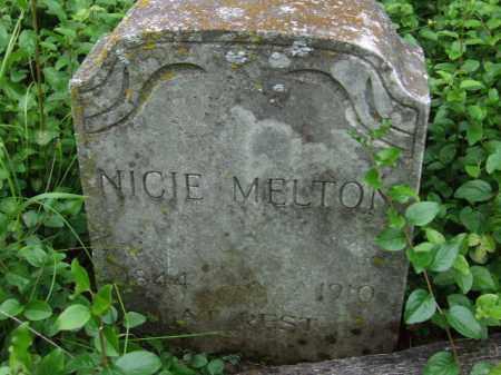 MARTIN MELTON, NICIE - Cherokee County, Oklahoma | NICIE MARTIN MELTON - Oklahoma Gravestone Photos