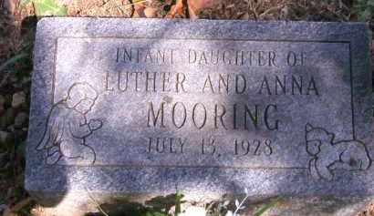 MOORING, INFANT DAUGHTER - Cherokee County, Oklahoma | INFANT DAUGHTER MOORING - Oklahoma Gravestone Photos