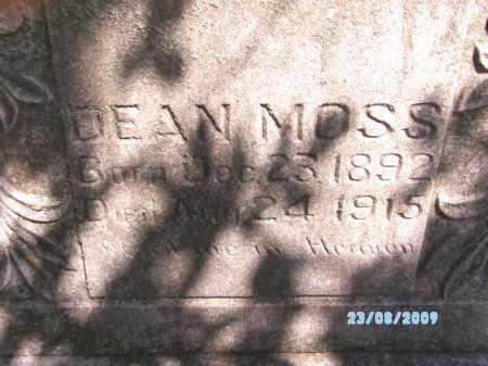 MOSS, DEAN - Cherokee County, Oklahoma | DEAN MOSS - Oklahoma Gravestone Photos