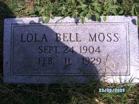 MOSS, LOLA BELL - Cherokee County, Oklahoma   LOLA BELL MOSS - Oklahoma Gravestone Photos