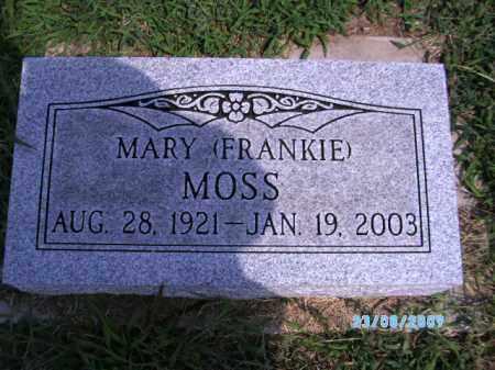 MOSS, MARY (FRANKIE) - Cherokee County, Oklahoma | MARY (FRANKIE) MOSS - Oklahoma Gravestone Photos