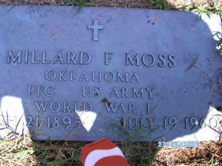 MOSS, MILLARD F - Cherokee County, Oklahoma | MILLARD F MOSS - Oklahoma Gravestone Photos