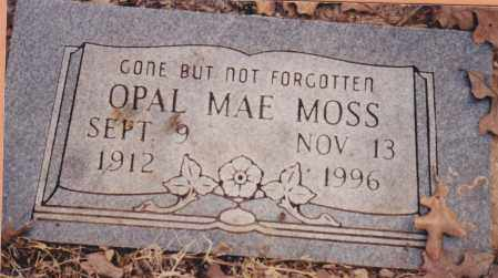 MOSS, OPAL MAE - Cherokee County, Oklahoma | OPAL MAE MOSS - Oklahoma Gravestone Photos