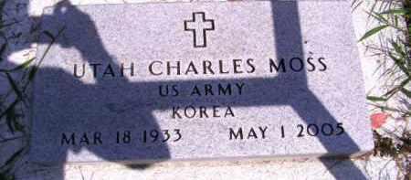 MOSS, UTAH CHARLES - Cherokee County, Oklahoma | UTAH CHARLES MOSS - Oklahoma Gravestone Photos