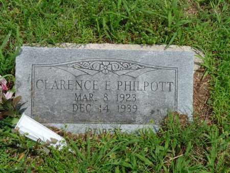 PHILPOTT, CLARENCE E - Cherokee County, Oklahoma | CLARENCE E PHILPOTT - Oklahoma Gravestone Photos