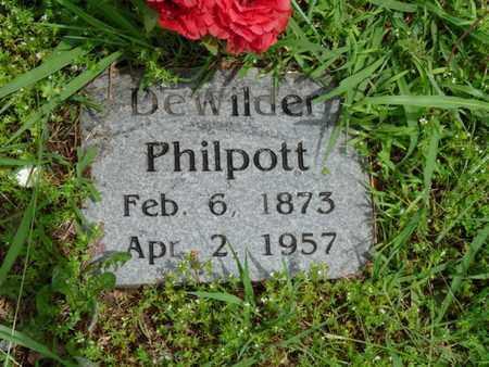 PHILPOTT, DEWILDER - Cherokee County, Oklahoma | DEWILDER PHILPOTT - Oklahoma Gravestone Photos