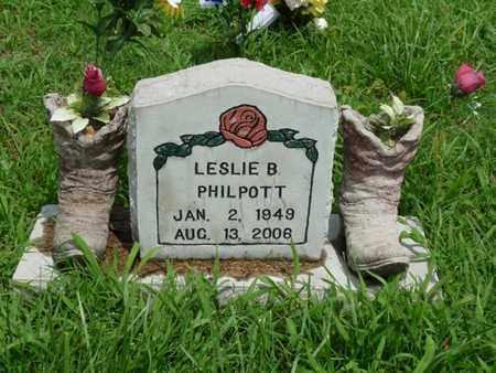 PHILPOTT, LESLIE B - Cherokee County, Oklahoma | LESLIE B PHILPOTT - Oklahoma Gravestone Photos