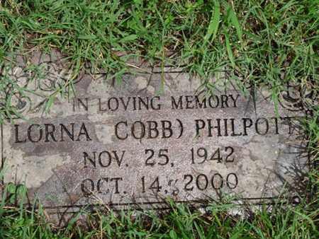 PHILPOTT, LORNA - Cherokee County, Oklahoma | LORNA PHILPOTT - Oklahoma Gravestone Photos