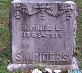 SAUNDERS, SAMUEL L - Cherokee County, Oklahoma | SAMUEL L SAUNDERS - Oklahoma Gravestone Photos