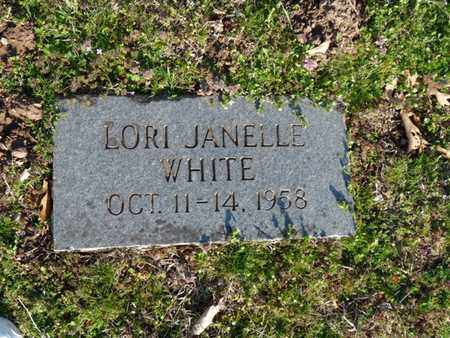 WHITE, LORI JANELLE - Cherokee County, Oklahoma | LORI JANELLE WHITE - Oklahoma Gravestone Photos