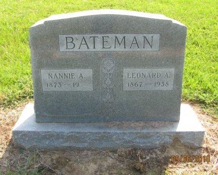 HULEN BATEMAN, NANNIE A. - Choctaw County, Oklahoma | NANNIE A. HULEN BATEMAN - Oklahoma Gravestone Photos