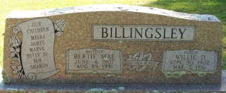 BILLINGSLEY, WILLIE D - Choctaw County, Oklahoma | WILLIE D BILLINGSLEY - Oklahoma Gravestone Photos
