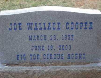 COOPER, JOE WALLACE - Choctaw County, Oklahoma | JOE WALLACE COOPER - Oklahoma Gravestone Photos