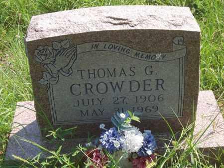 CROWDER, THOMAS G - Choctaw County, Oklahoma | THOMAS G CROWDER - Oklahoma Gravestone Photos