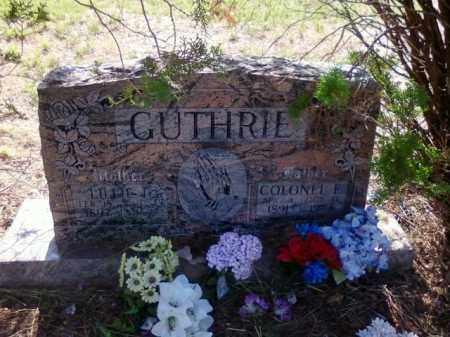 GUTHRIE, COLONEL ELMER - Choctaw County, Oklahoma | COLONEL ELMER GUTHRIE - Oklahoma Gravestone Photos