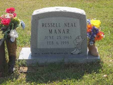 MANAR, RUSSELL NEAL - Choctaw County, Oklahoma | RUSSELL NEAL MANAR - Oklahoma Gravestone Photos