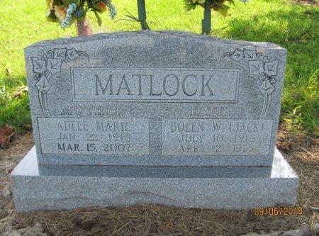 MATLOCK, BOLEN W. (JACK) - Choctaw County, Oklahoma   BOLEN W. (JACK) MATLOCK - Oklahoma Gravestone Photos