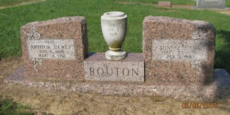 RIDDLE ROUTON, MINNIE EDNA - Choctaw County, Oklahoma | MINNIE EDNA RIDDLE ROUTON - Oklahoma Gravestone Photos
