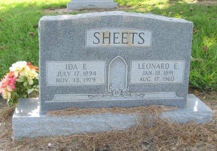 SHEETS, LEONARD E. - Choctaw County, Oklahoma | LEONARD E. SHEETS - Oklahoma Gravestone Photos