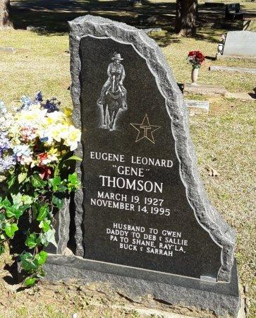 THOMSON, EUGENE LEONARD - Choctaw County, Oklahoma | EUGENE LEONARD THOMSON - Oklahoma Gravestone Photos