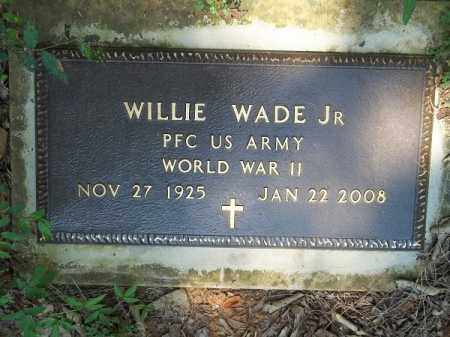 WADE JR (VETERAN WWII), WILLIE - Choctaw County, Oklahoma   WILLIE WADE JR (VETERAN WWII) - Oklahoma Gravestone Photos