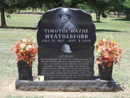 WEATHERFORD, TIMOTHE WAYNE - Choctaw County, Oklahoma | TIMOTHE WAYNE WEATHERFORD - Oklahoma Gravestone Photos